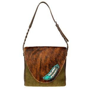 Trinity Ranch Montana West Hair on Leather Purse